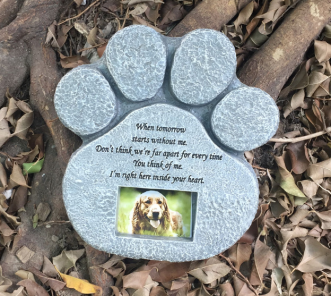 Pet dog tombstone