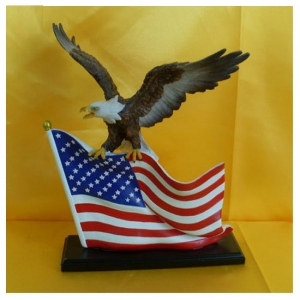 Eagle with American Flag
