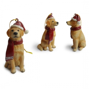 Golden retriver Christmas Tree Ornaments