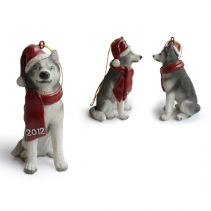 Siberian Husky Christmas Tree Ornaments