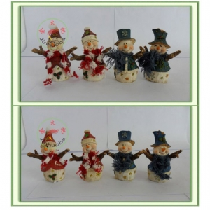 Snowman Figurine with scarf