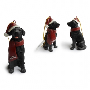 Black Lab Christmas Tree Ornaments