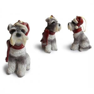 MIni schnauzer Christmas Tree Ornaments