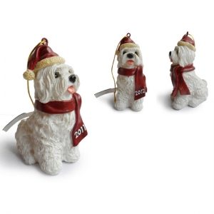 Maltese Christmas Tree Ornaments