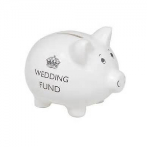 Pig wedding fund money box