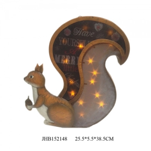 Iron squirrel led christmas lights