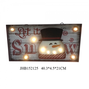 Let it snow  iron Wall Decoration LED Light Up Xmas Sign Plaque