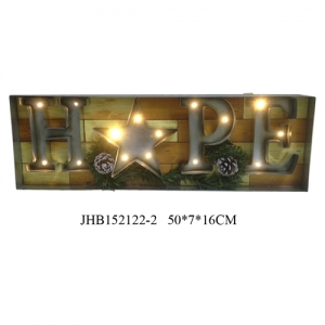 Hope christmas iron Wall Decoration plaque