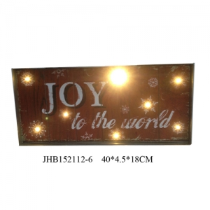 Joy to the world iron Wall Decoration christmas Sign Plaque