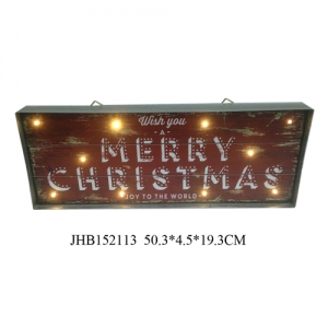 Merry Christmas iron Wall Decoration plaque