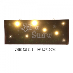Let it snow iron Wall Decorations christmas Sign Plaque