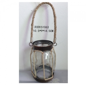 Iron lantern candle holders