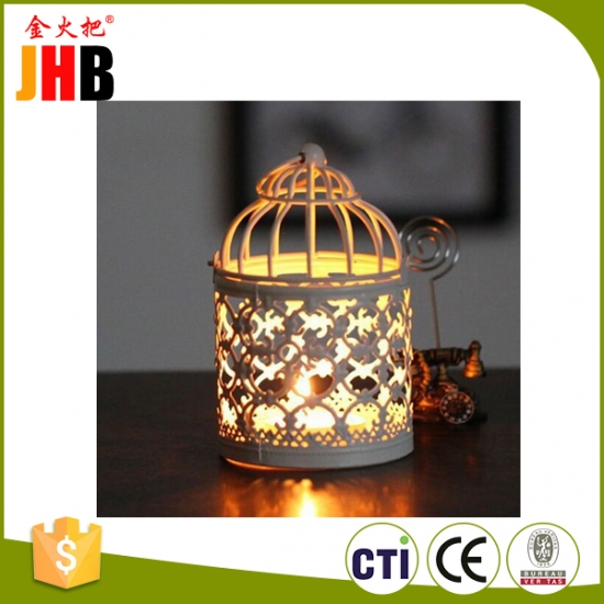 Bronze Metal Candle Holder & Lantern