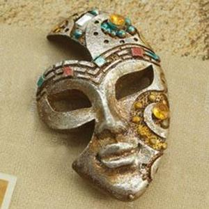 funny resin lady mask